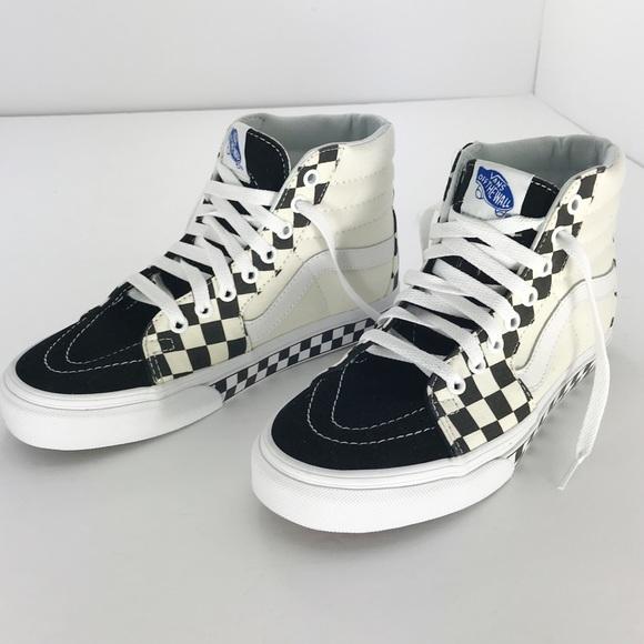 d712ff58d05802 Vans SK-8 Hi Checker Skate Shoe